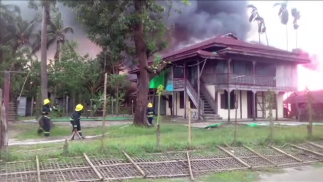 Human Rights Watch says it has satellite data consistent with widespread burnings in 10 populated areas of Myanmar's Rakhine State including Rohingya...