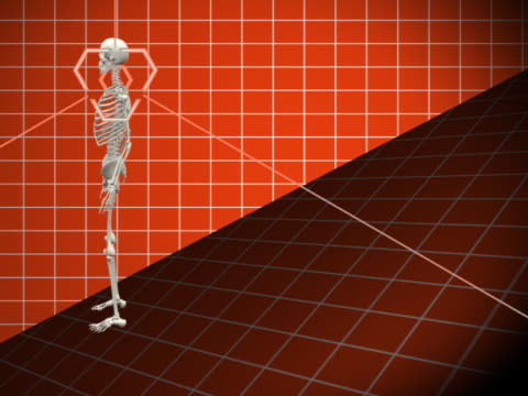 human skeleton in motion - biomedical illustration stock videos & royalty-free footage