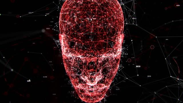 uomo tecnologia - cyborg video stock e b–roll