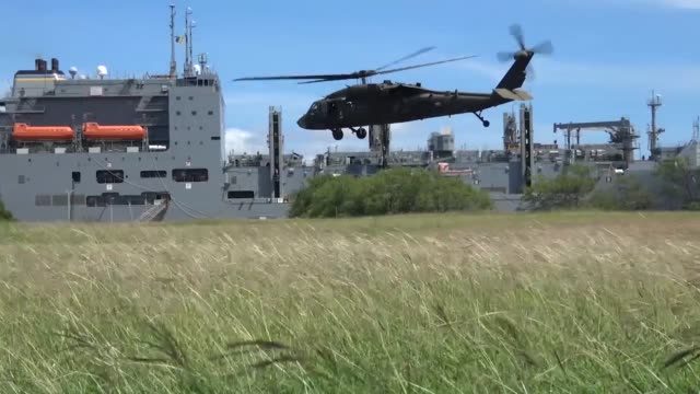 humanitarian assistant and disaster relief training scenario at the rim of the pacific exercise - black hawk helicopter stock videos and b-roll footage