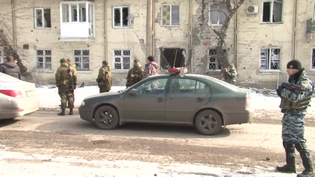A humanitarian convoy on its way Debaltseve was stopped today in Uglegorsk in Eastern Ukraine an AFP journalist has witnessed because of ongoing...