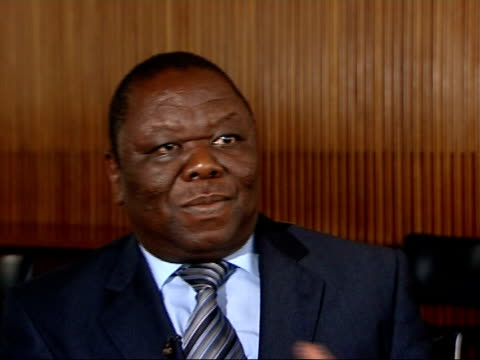 calls for international intervention ENGLAND London Morgan Tsvangirai interview SOT Drew attention of the world about this forgotten crisis not that...
