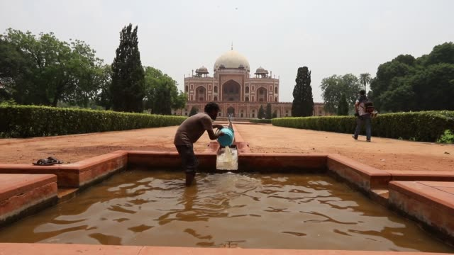 humayun's tomb in india's delhi reopened on july 06 2020 after being shut over three months due to the coronavirus pandemic the tomb was closed in... - new delhi stock videos & royalty-free footage