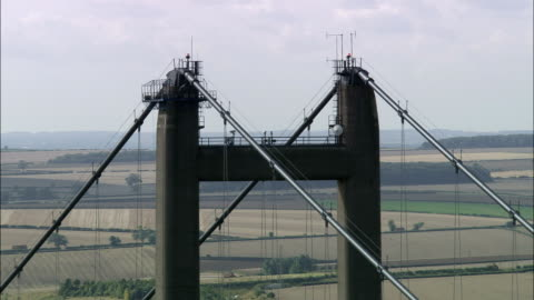 humber hängbro - flygfoto - england, north lincolnshire, north killingholme, storbritannien - hängbro bildbanksvideor och videomaterial från bakom kulisserna