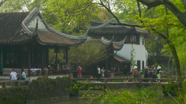 ws zo humble administrators garden, unesco world heritage site, suzhou, jiangsu province, china - classical chinese garden stock videos & royalty-free footage
