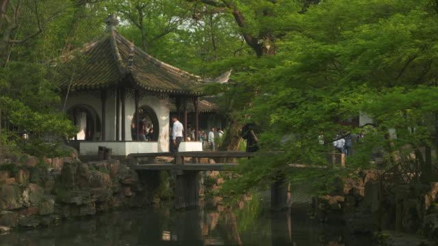 ws humble administrators garden, unesco world heritage site, suzhou, jiangsu province, china - classical chinese garden stock videos & royalty-free footage