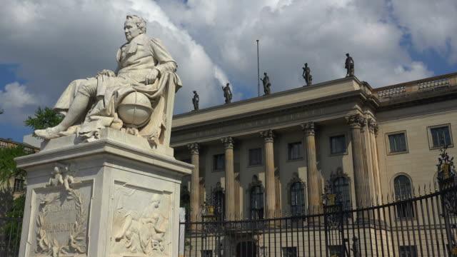 Humboldt Statue and Humboldt University, Unter den Linden, Berlin, Germany