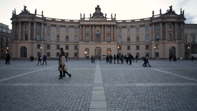 humboldt university library exterior - stone object stock videos & royalty-free footage