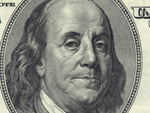 hundred dollar bill collage - benjamin franklin stock videos & royalty-free footage