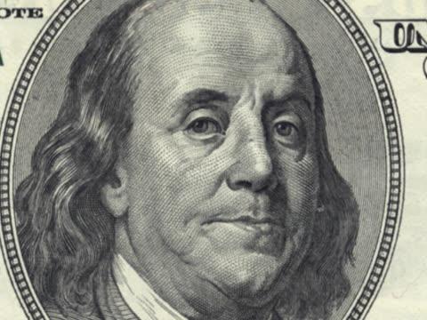 hundred dollar bill collage - benjamin franklin stock videos and b-roll footage