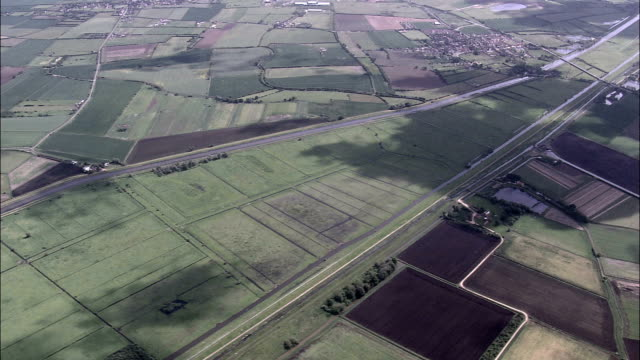 Des centaines de lavage-Vue aérienne-Angleterre, Cambridgeshire, Fenland District hélicoptère filmant, vidéo aérienne, cineflex, plan de situation, Royaume-Uni