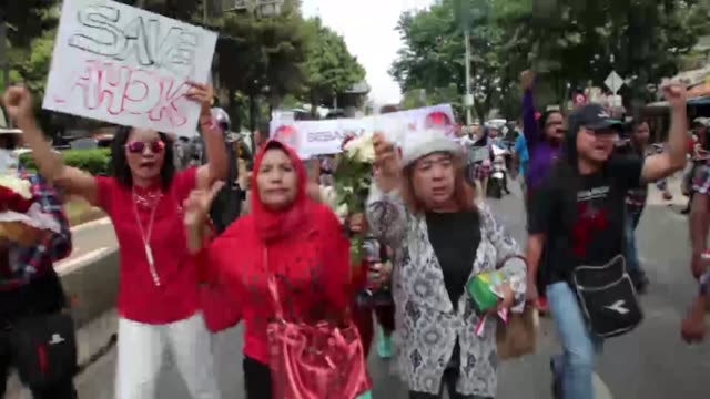 """Hundreds of Basuki Tjahaja Purnama known as Ahok Supporters held demonstrations in front of Jakarta Government office known as """"Balai Kota"""" At the..."""
