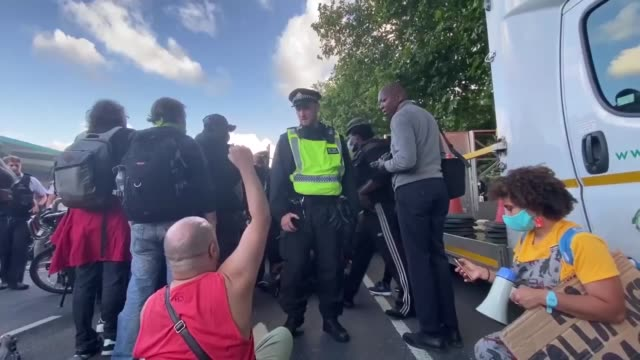 hundreds of black lives matter protesters marched through london streets on sunday against racism and racial inequality as demonstrations continued... - i can't breathe stock videos & royalty-free footage