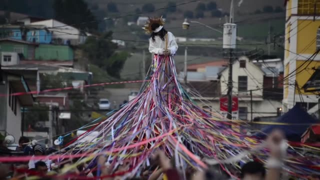 hundreds of costa ricans tied themselves to a jesus statue using ribbons symbolizing promises they made to the christ to celebrate holy week in cot... - holy week stock videos & royalty-free footage