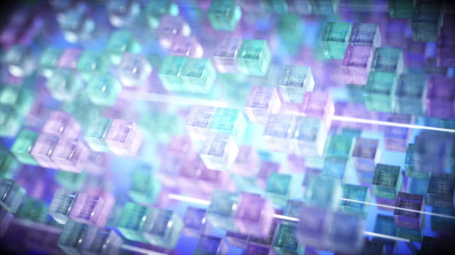 hundreds of cubes representing quantum computing - improvement stock videos & royalty-free footage