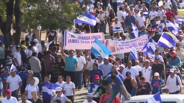 hundreds of demonstrators in nicaragua flood the streets in protest against president daniel ortega who is under pressure despite backing down on a... - pension stock videos & royalty-free footage