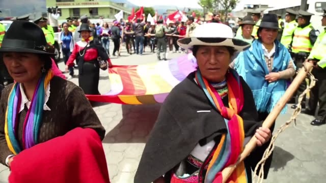 Hundreds of Ecuador's indigenous people are marching from an Amazon province towards the capital in protest against President Rafael Correa joining...