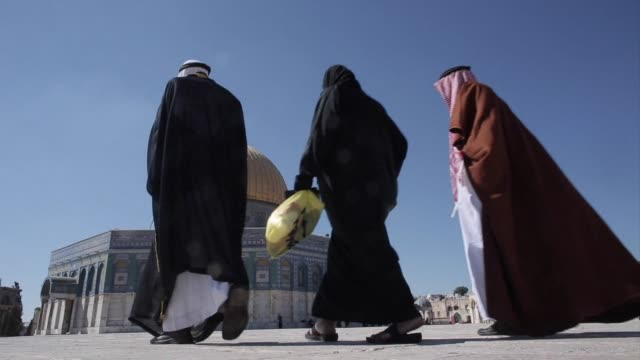 hundreds of elderly gazans paid a rare visit to jerusalems al aqsa mosque compound on sunday after israel eased tight restrictions on movement over... - compounding stock videos and b-roll footage