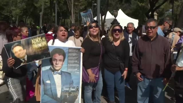 hundreds of fans of legendary mexican singer jose jose wait outside the capital's fine arts palace to catch a glimpse of his returned ashes and bid a... - pancreatic cancer stock videos and b-roll footage