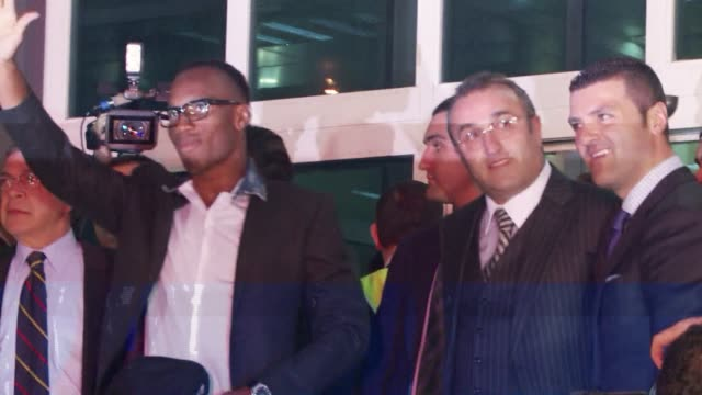 Hundreds of Galatasaray supporters welcomed Ivory Coast international football player Didier Drogba at the Istanbul Airport CLEAN Didier Drogba...