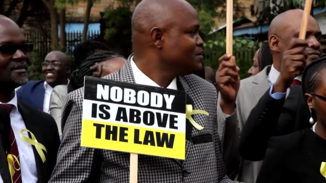 Hundreds of lawyers took to the streets in capital Nairobi on Thursday in protest against violations of rule of law by state officials The protest...
