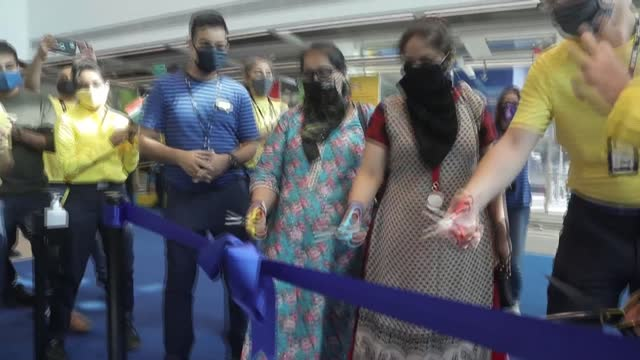 hundreds of masked shoppers defy pandemic fears to visit ikea's second indian store, which opens as the swedish giant tries to lure the country's... - abundance stock videos & royalty-free footage