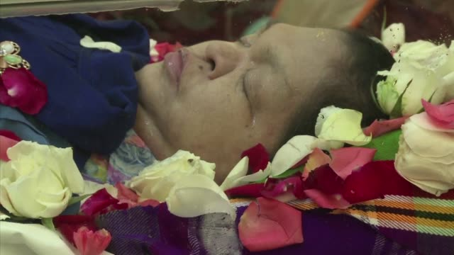 hundreds of mourners gather in myanmar to say tearful goodbyes to the country's most famous soothsayer et a deaf mystic who died at age 58 this week... - hearing impairment stock videos & royalty-free footage