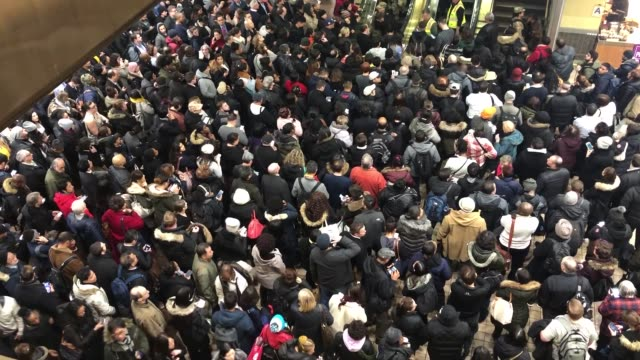 hundreds of nj transit commuters stuck in the port authority bus terminal due to snowstorm in new york united states on november 15 2018 - port authority stock videos & royalty-free footage