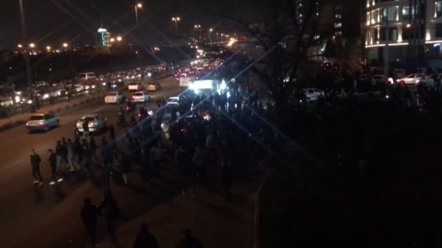hundreds of people gather at azadi square during an antigovernment protest on january 12 2020 in tehran iran - tehran stock videos & royalty-free footage