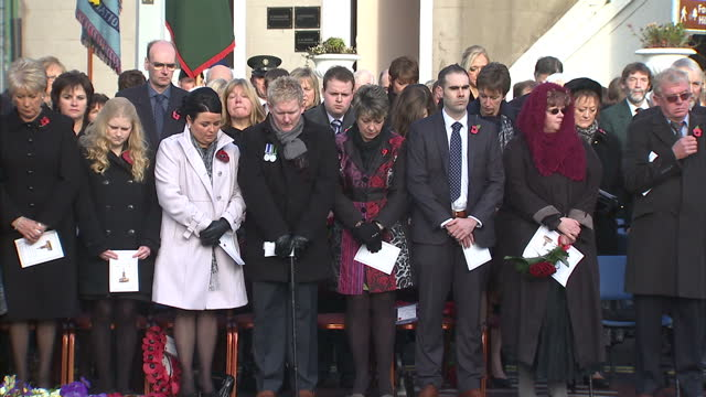 hundreds of people have attended a memorial service marking the 25th anniversary of the enniskillen remembrance day bomb twelve people died and more... - memorial event stock videos and b-roll footage