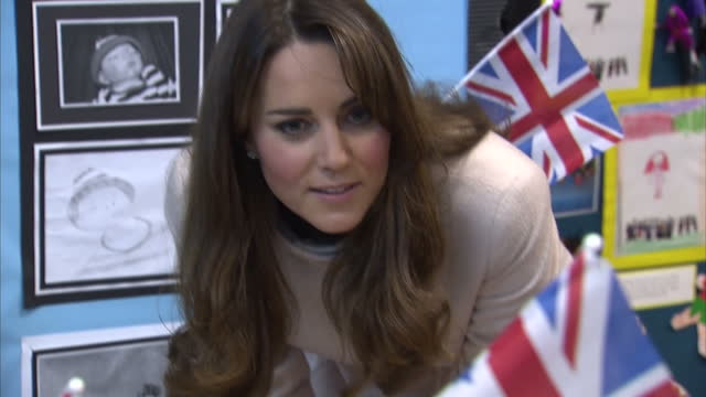 hundreds of people have lined the streets of cambridge to welcome william and kate who visited the city for the first time since becoming duke and... - will.i.am stock videos and b-roll footage