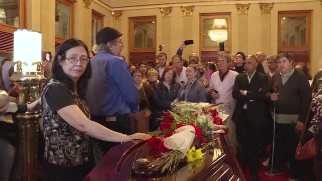 hundreds of people including former president of uruguay jose mujica gathered in montevideo's solis theatre tuesday to pay their last respects to the... - songwriter stock videos & royalty-free footage