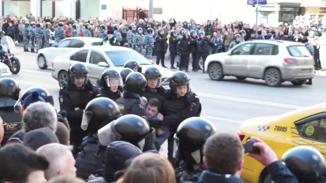 Hundreds of people including top Kremlin critic Alexei Navalny are arrested as thousands of Russians defied bans to stage protests across the country...
