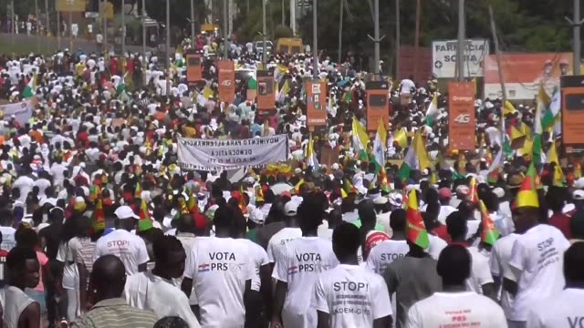 Hundreds of people march through the capital of the West African state of GuineaBissau calling on the government to accurately conduct an electoral...