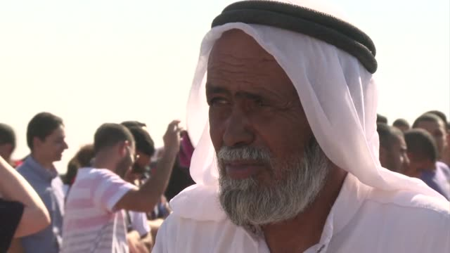 hundreds of people protested in the negev desert of southern israel on thursday against israeli plans to resettle up to 40000 bedouin and demolish 40... - negev stock videos & royalty-free footage