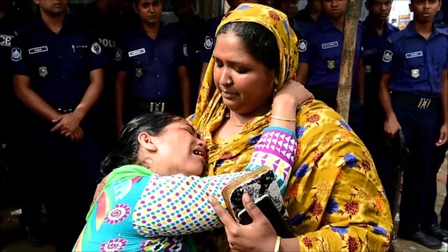 hundreds of people stage tearful tributes at rana plaza in bangladesh scene of one of the world's worst industrial disasters in 2013 when the complex... - bangladesh stock videos & royalty-free footage