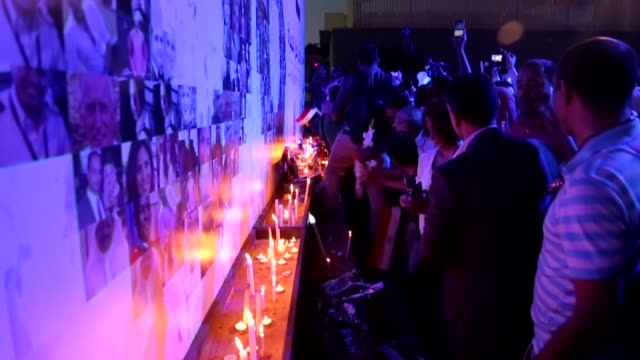 Hundreds of people take part in a commemoration march and a vigil for the victims of EgyptAir flight 804 in Cairo Egypt on May 26 2016 Egyptian Civil...