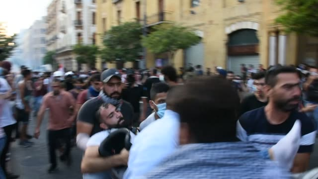 hundreds of people took part in anti-government protests in beirut on august 10, 2020 as the lebanese government said it was resigning over last... - government minister stock videos & royalty-free footage