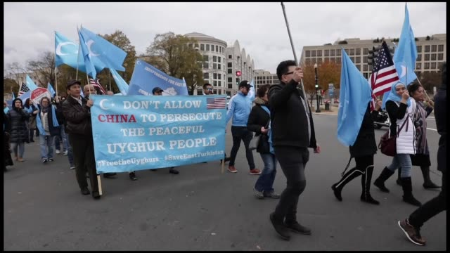 Hundreds of protesters took to the streets Tuesday to participate in a rally for Uyghurs and raise awareness about the occupation of East Turkestan...