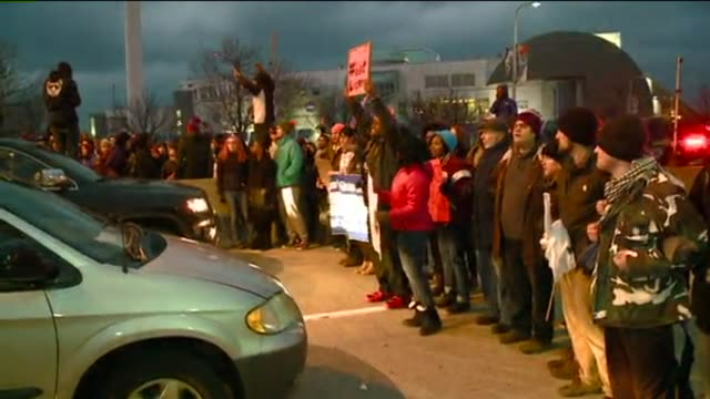 Hundreds of protestors walked down the Shoreway in response to the Cleveland police shooting of 12yearold Tamir Rice as well as a St Louis County...