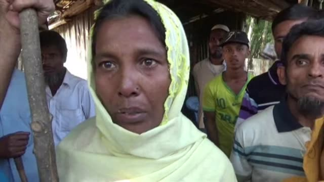 hundreds of rohingya have arrived in bangladesh after fleeing violence in neighbouring myanmar many with horrific tales of troops raping killing and... - afp stock videos & royalty-free footage