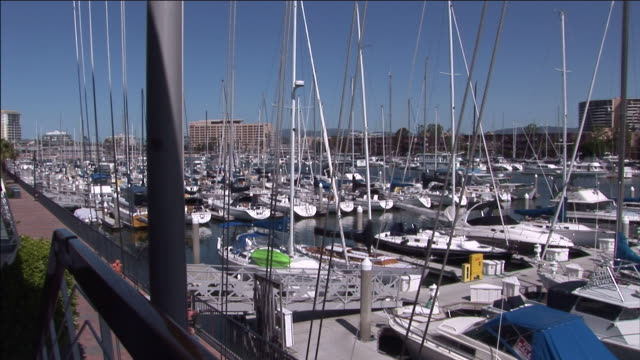 Hundreds of sailboats populate Marina del Rey.