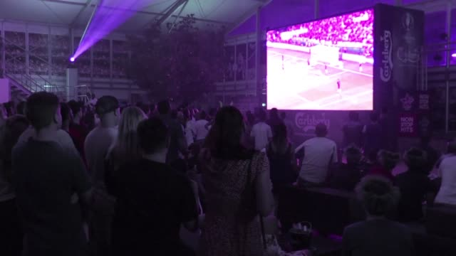 Hundreds of supporters gathered at bars in Dubai UAE Saturday to follow the European championship match opposing England and Russia