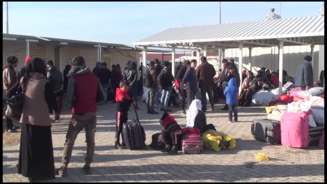 hundreds of syrians left turkey on tuesday for terrorfree regions of syria as part of ongoing voluntary return program taking refuge in turkey due to... - kurdistan workers party stock videos & royalty-free footage