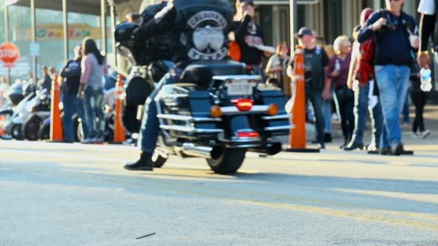 hundreds of thousands of bikers and their motorcycles descended upon galveston island and the strand last weekend during the 2019 lone star rally.... - nicolas lisperguier stock videos & royalty-free footage
