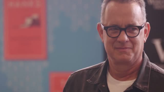 hundreds of tom hanks fans from around the uk flooded to a london bookshop to meet the actor as he signed copies of his debut book uncommon type - tom hanks stock videos & royalty-free footage