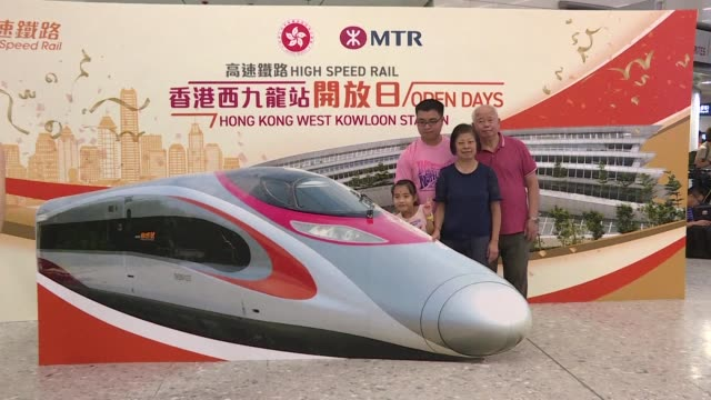 Hundreds of visitors flock into West Kowloon Terminus of the high speed rail on open day ahead of its opening on 23 September 2018