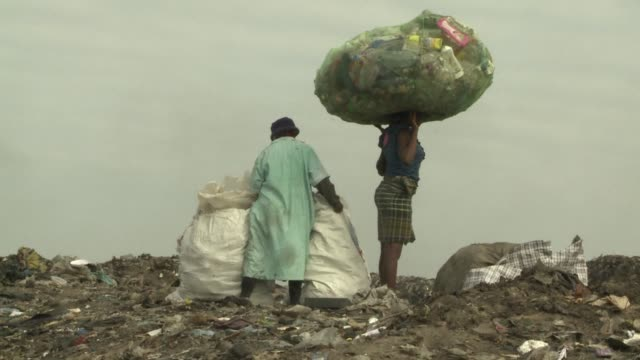Hundreds of women and children spend their lives sifting through the rubbish heaps of Maputo in the hope of finding anything worth recycling