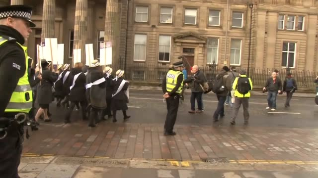 Hundreds of women some dressed as suffragettes have marched through Glasgow demanding equal pay from the city council Unison said that having won...