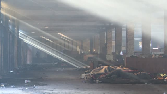 Hundreds of young migrants remain in appalling conditions in derelict Belgrade warehouses in the middle of Serbia's freezing winter